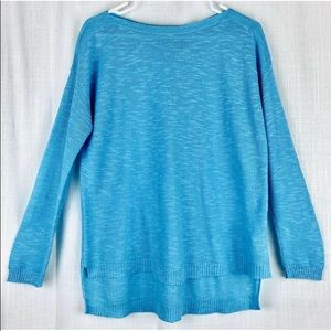 Eileen Fisher Sweater Organic Linen Blend High Low